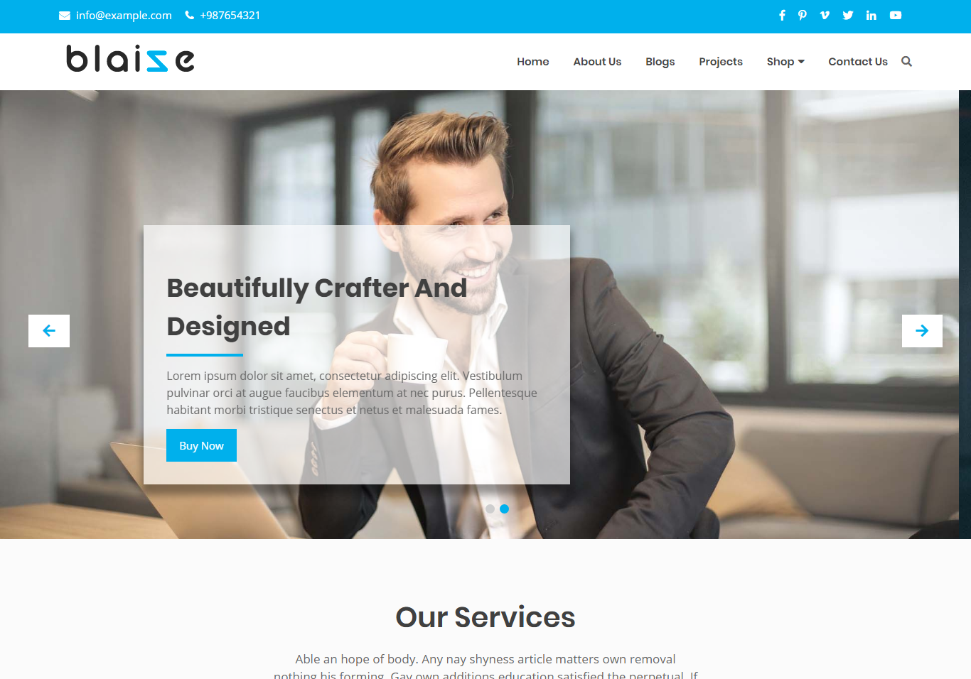 Blaize - Corporate WordPress Theme