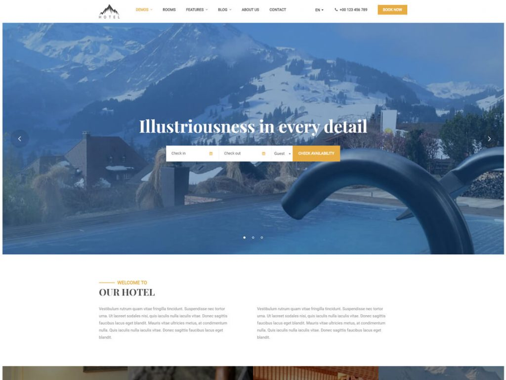 Luxstay: Best WordPress Hotel and Resort Themes